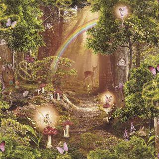 Magic Garden 696009 Rainbow Fairy Wallpaper
