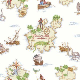 Pirates Ahoy Treasure Map Wallpaper 696107