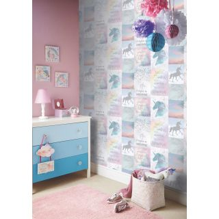 Arthouse Believe In Unicorns Glitter Metallic Girls Wallpaper 698300