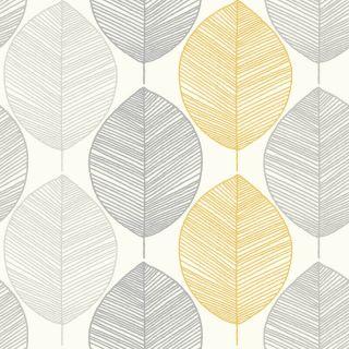 Scandi Leaf Yellow 698401