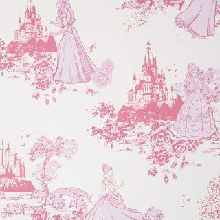 Princess Pink Toile Wallpaper - 114113 B