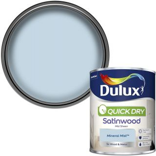 Dulux Quick Dry Satinwood Paint For Wood And Metal - Mineral Mist 750Ml
