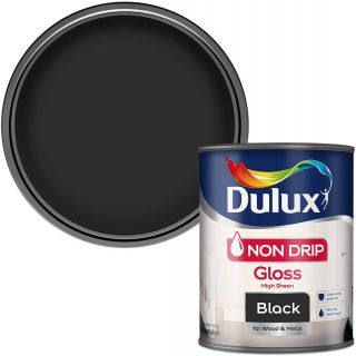Dulux Non Drip Gloss Paint For Wood And Metal - Black 750 ml