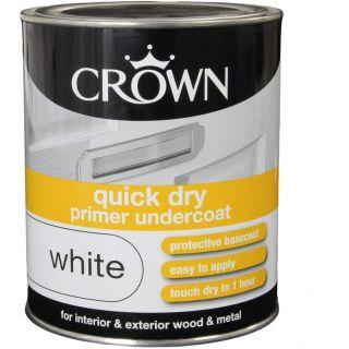 Crown Quick Dry Undercoat - White - 750ml
