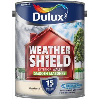 Dulux Weathershield Smooth Masonry Paint Gardenia 7.5L