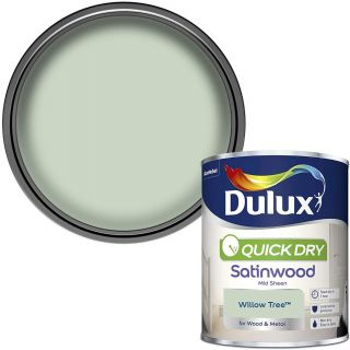 Dulux Quick Dry Satinwood Paint For Wood And Metal - Willow Tree 750Ml