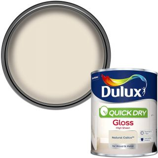 Dulux Quick Dry Gloss Paint For Wood And Metal - Natural Calico 750 ml