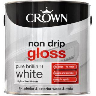 Crown Non Drip Gloss - Pure Brilliant White 2.5L