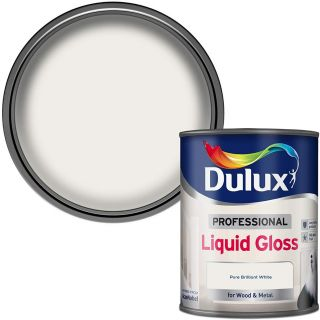 Dulux Professional Liquid Gloss Paint For Wood And Metal - Pure Brilliant White 750Ml