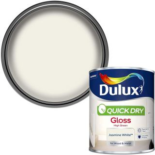 Dulux Quick Dry Gloss Paint For Wood And Metal - Jasmine White 750 ml