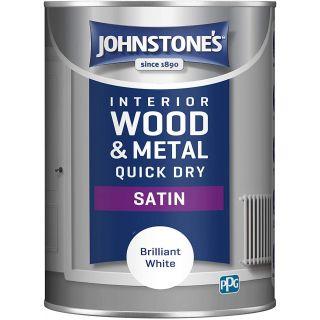 Johnstone's - Quick Dry Satin - Brilliant White - 1.25 Litre