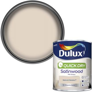 Dulux Quick Dry Satinwood Paint For Wood And Metal - Natural Hessian 750Ml