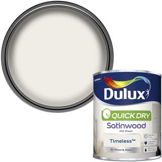 Dulux Quick Dry Satinwood Paint For Wood And Metal - Timeless 750 ml