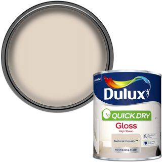 Dulux Quick Dry Gloss Paint For Wood And Metal - Natural Hessian 750Ml