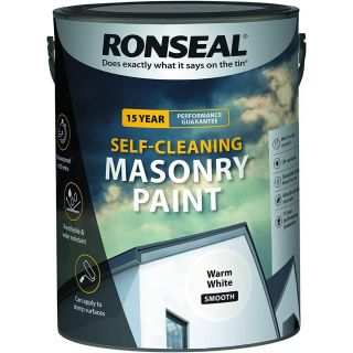 Ronseal Self-Cleaning Masonry Paint Warm White 5L