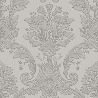 Belgravia Decor Amara Damask Silver Metallic Wallpaper 7370