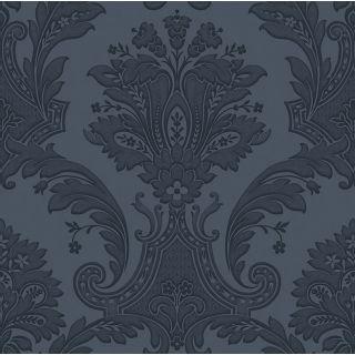 Belgravia Amara Damask Wallpaper Dark Blue 7371