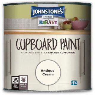 Johnstones Revive Cupboard Paint - Antique Cream 750ml