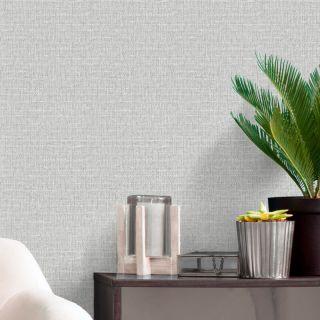 Belgravia Decor Giorgio Plain Texture Wallpaper - Soft Silver 8106