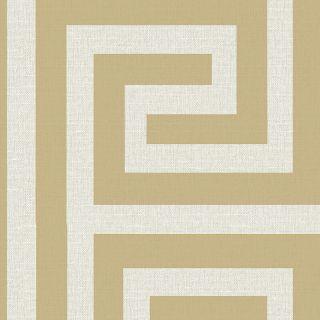 Belgravia Decor Giorgio Greek Key Wallpaper - Gold/Cream 8111
