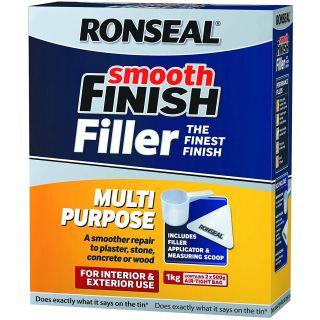 Rosneal Smooth Finish Multi Purpose Filler Interior Exterior 1kg