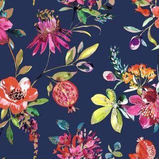Holden Decor Melgrano Floral Navy Metallic Wallpaper 90521