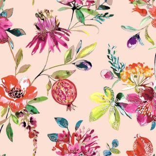 Holden Decor Floral Blush Pink Metallic Wallpaper 90522