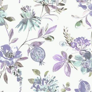 Holden Decor Melgrano Floral Heather Metallic Wallpaper 90523