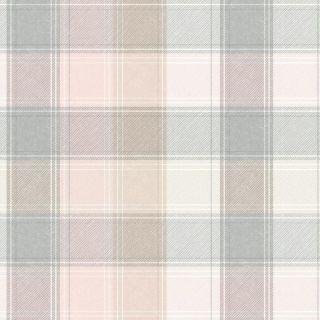 Arthouse Country Check Pink Beige Grey Tartan Wallpaper 901900