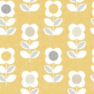 Retro Floral Yellow 902305