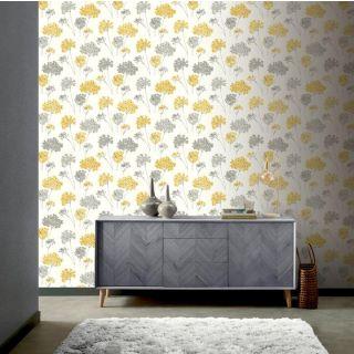 Anya Floral Ochre 907502