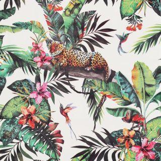 Arthouse Animal Jungle White Multi Wallpaper - 908505