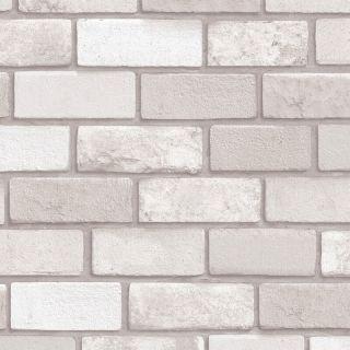 Arthouse Diamond Brick Taupe Glitter Wallpaper 669402