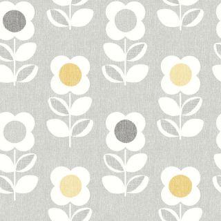 Arthouse Retro Flower Grey and Yellow Wallpaper 901907