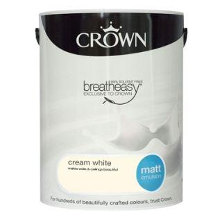 CROWN MATT EMULSION - CREAM WHITE 5L