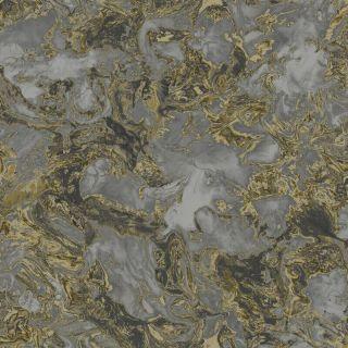 Debona Liquid Marble Charcoal Glitter Wallpaper- 6362