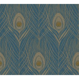 Absolutely Chic AS-369712 Feather Blue wallpaper