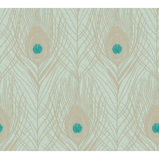 Absolutely Chic AS-369713 Green Feather/ Luxury Wallpaper
