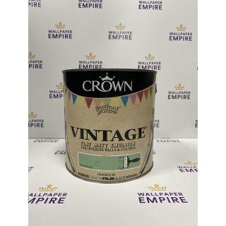 Crown Vintage Flat Matt Emulsion Paint For Interior Walls Ceilings Enamel Green