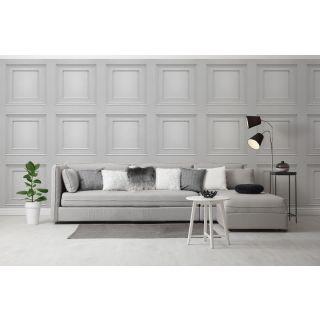 Amara Wood Panel Wallpaper Soft Silver by Belgravia Decor GB 7376