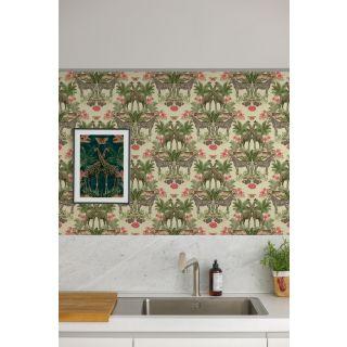 Grandeco Animal Kingdom Tropical Jungle Animal Print Palm Cream Wallpaper