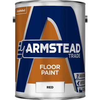 Armstead Trade Floor Paint Red 5L