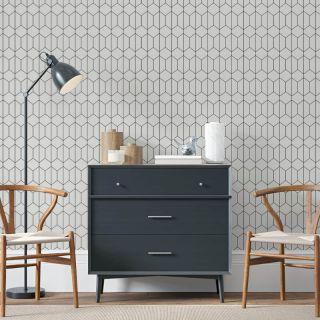 Arthouse Linear Geometric Mono Wallpaper - 909703