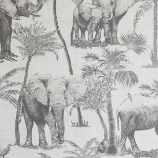Arthouse Safari Elephant Cream/Charcoal Wallpaper