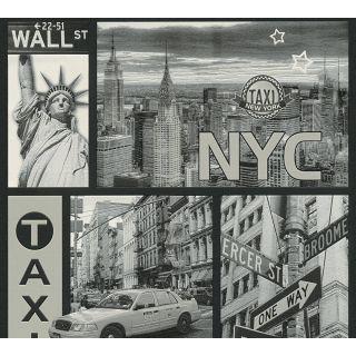 AS-300452 Black Fancy Wallpaper