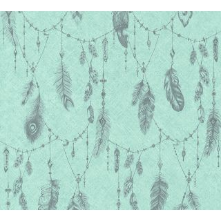 AS-364652 Blue Feather Wallpaper