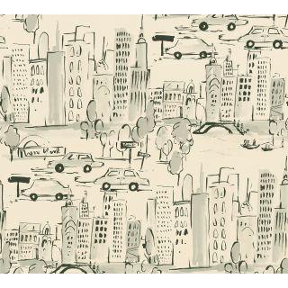 AS-367532 New York City Black/White Wallpaper