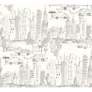 AS-367533 New York City Grey/White Wallpaper