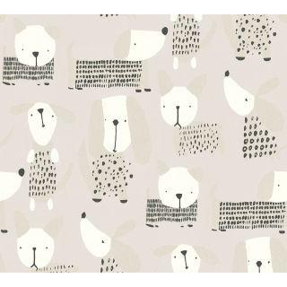 AS-367553 Grey Spotty Dogs Children's Wallpaper