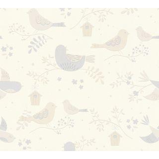 AS-367561 Beige Bird Wallpaper